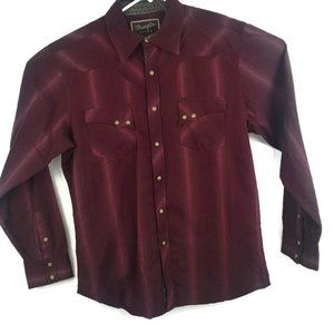 Wrangler Retro Mens Western Long Sleeve Pearl Snap